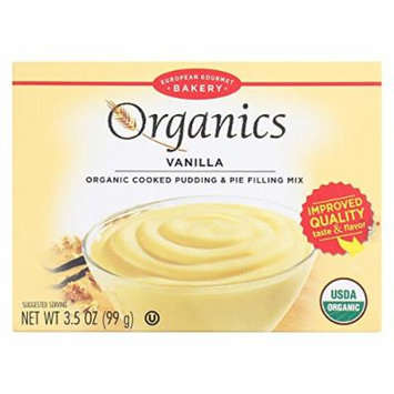 European Gourmet Bakery Organic Vanilla Pudding Mix - Vanilla - Case of 12 - 3.5 oz.