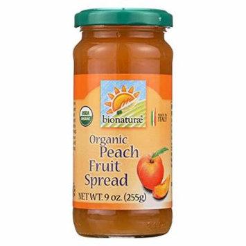 Bionaturae Fruit Spread - Peach - Case of 12 - 9 oz.