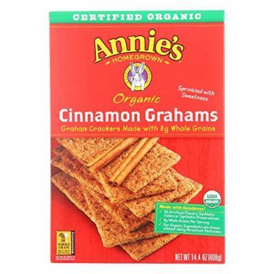 Annie's Homegrown Organic Cinnamon Graham Crackers - Case of 12 - 14.4 oz.