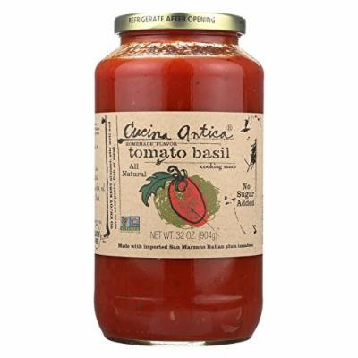 Cucina Antica Tomato Basil Cooking Sauce - Case of 12 - 32 FL oz.