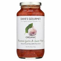 Dave's Gourmet Organic Roasted Garlic and Sweet Basil Pasta Sauce - Case of 6 - 25.5 FL oz.