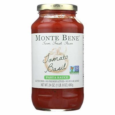 Monte Bene Pasta Sauce - Tomato Basil - Case of 6 - 24 Fl oz.