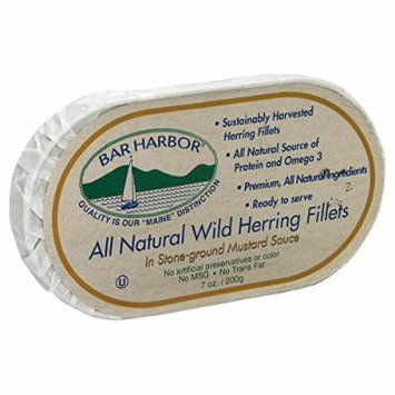 Bar Harbor Wild Herring Fillets - Stone Ground Mustard Sauce - Case of 12 - 7 oz.
