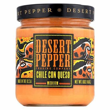 Desert Pepper Trading Medium Chile Con Queso Dip - Case of 6 - 16 oz.