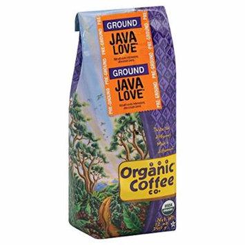 Organic Coffee Company Ground Coffee - Java Love - Case of 6 - 12 oz.
