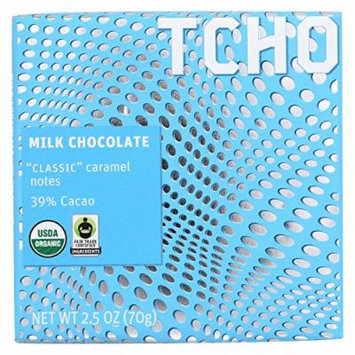 Tcho Chocolate Milk Chocolate Bar - Classic - Case of 12 - 2.5 oz.