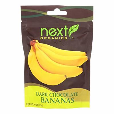 Next Organics Dark Chocolate - Bananas - Case of 6 - 4 oz.