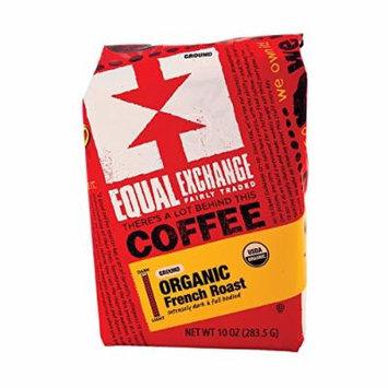 Equal Exchange Organic Drip Coffee - French Roast - Case of 6 - 10 oz.
