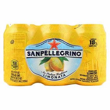 San Pellegrino Sparkling Water - Limonata Cans - Case of 4 - 11.1 Fl oz.