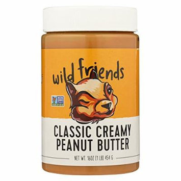Wild Friends Peanut Butter - Classic Creamy - Case of 6 - 16 oz.