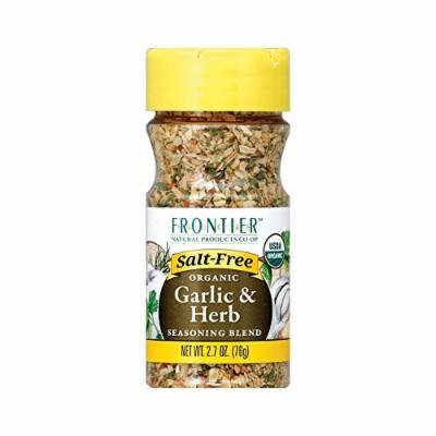 Frontier Herb Organic Seasoning Blend - Garlic and Herb - Salt Free - Case of 6 - 2.7 oz.