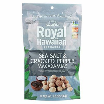 Royal Hawaiian Orchards Macadamias - Sea Salt and Cracked Pepper - Case of 6 - 5 oz.
