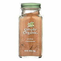 Simply Organic Ground Ceylon Cinnamon - Case of 6 - 2.08 oz.