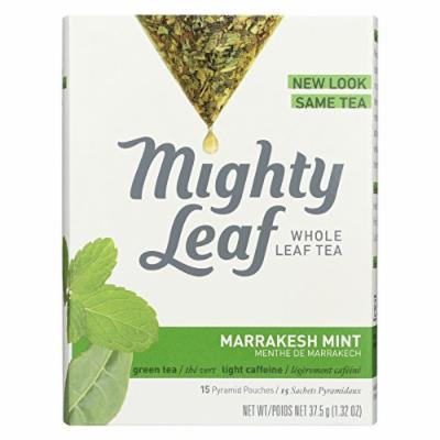 Mighty Leaf Tea Green Tea - Marrakesh Mint - Case of 6 - 15 Bags