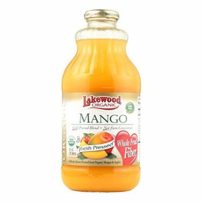 Lakewood Organic Mango Juice - Mango - Case of 12 - 32 Fl oz.