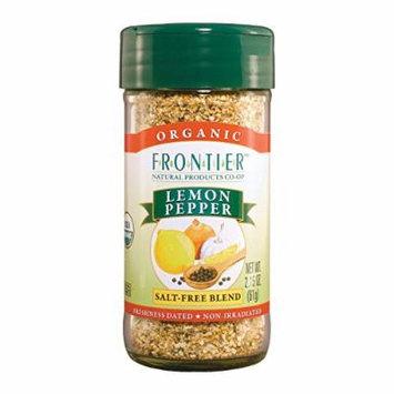 Frontier Herb Lemon Pepper - Organic Salt Free - Case of 6 - 2.5 oz.
