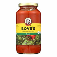 Bove's of Vermont Pasta Sauce - Basil - Case of 6 - 24 Fl oz.