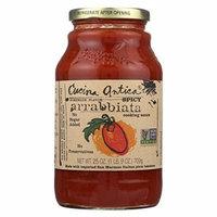 Cucina Antica Spicy Arrabbiata Cooking Sauce - Case of 12 - 25 oz.