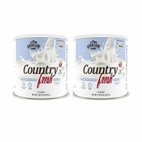 Augason Farms Country Fresh 100% Real Instant Nonfat Dry Milk 1 lb 13 oz No. 10 Can (2 pack)