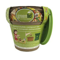 Greenlidâ ¢ Starter Pack 5 Greenlid Compostable Compost Bins with Reusable Lid