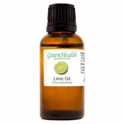 Lime Essential Oil - 1 fl oz (30 ml) Glass Bottle w/ Euro Dropper - 100% Pure Essential Oil by GreenHealth