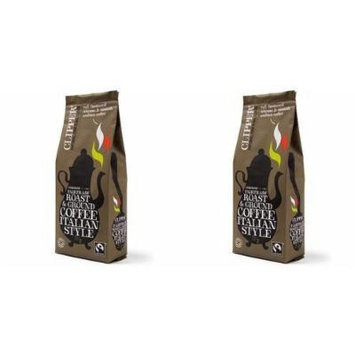 (2 Pack) - Clipper - Organic Italian Style Coffee | 227g | 2 PACK BUNDLE
