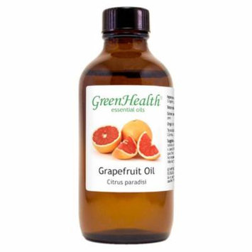 Grapefruit Essential Oil - 4 fl oz (118 ml) Glass Bottle w/ Cap - 100% Pure Essential Oil by GreenHealth
