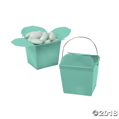 Mini Mint Green Takeout Boxes (Pack of 6)