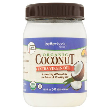 Betterbody Foods Organic Coconut Extra Virgin Oil, 15.5 fl oz, 6 pack