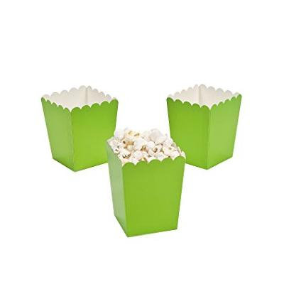 Mini Lime Green Popcorn Boxes (Pack of 6)