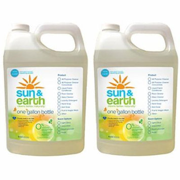 Sun & Earth 2X Concentrated Natural Laundry Detergent - Unscented (128oz) (PACK OF 2)