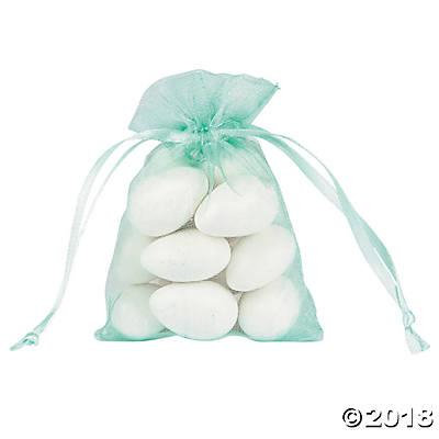 Mini Mint Green Organza Bags (Pack of 4)