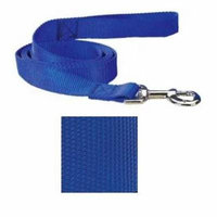 Coordinating Nylon Dog Collars Leads & Harnesses for Dogs Choose Sizes & Colors(6 Ft x 1 Inch Lead - Blue)