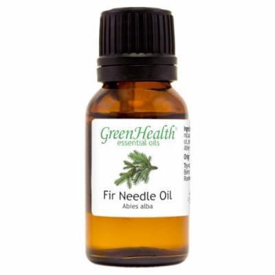 Fir Needle Essential Oil - 1/2 fl oz (15 ml) Glass Bottle w/ Euro Dropper - 100% Pure Essential Oil by GreenHealth