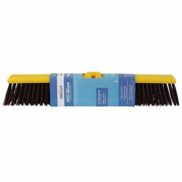 Bison Life Multi Surface Push Broom - Coarse Polypropylene and Polystyrene Heavy-Duty Floor Sweep Broom