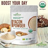 Certified Organic Yacon Root Powder -Low Sugar Natural Sweetner -Raw Vegan Gluten Free 8oz Pouch