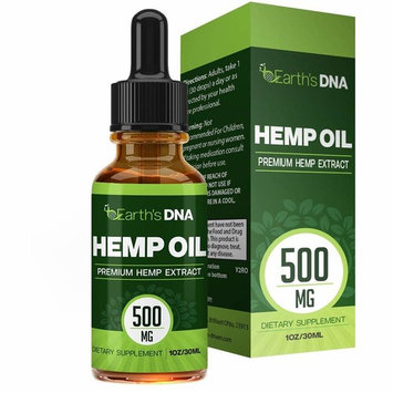 Hemp Oil Drops (500MG) :: Premium Seed Extract :: Rich in Omega Fatty Acids :: Promotes Relaxation :: All Natural :: 30ML Bottle :: One Month Supply :: Earth's DNA