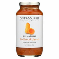 Dave's Gourmet Butternut Squash Pasta Sauce - Case of 6 - 25.5 oz.