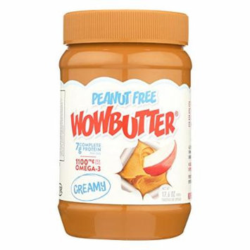 Wow Butter Creamy Peanut Free Spread - Case of 6 - 17.6 oz.