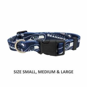 Seattle Seahawks Pet Nylon Collar - Medium