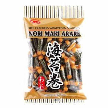 JFC Nori Maki Arare Crackers 3 oz each (4 Items Per Order)