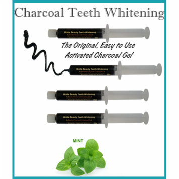 Watts Beauty Activated Coconut Charcoal Teeth Whitening Powder Gel