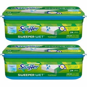 Swiffer Sweeper Wet Mopping Cloth Refill - Open Window Fresh, 24 ct (Pack of 2)