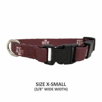 Texas A&M Aggies Pet Nylon Collar - XS