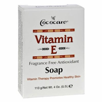 Cococare, Vitamin E Bar Soap, Fragrance Free Antioxidant, 4 oz , 2 Pack