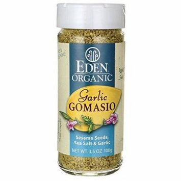 Eden Foods Organic Garlic Gomasio - Sesame Seeds, Sea Salt & Garlic 3.5 oz (100 grams) Jar by Eden