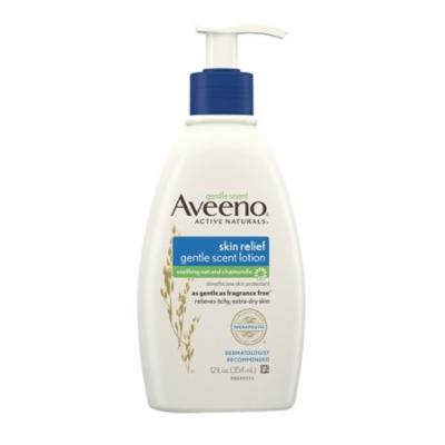 Aveeno Skin Relief Gentle Scent Lotion Soothing Oat And Chamomile, 12 oz, 3 Pack