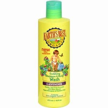 Earth's Best Organic Shampoo And Body Wash Lavender - 16 Oz