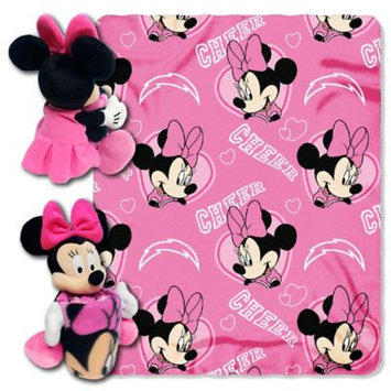 Northwest San Diego Chargers NFL Minnie Mouse with Throw Combo
