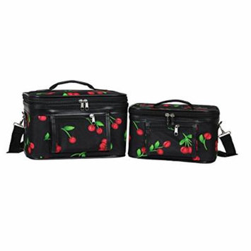 World Traveler Women's 2-Piece Cosmetic Case Set, Cherry